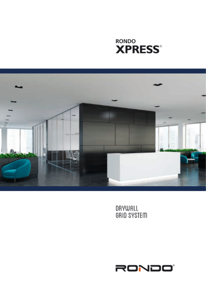 Technical literature - XPRESS Drywall Grid System
