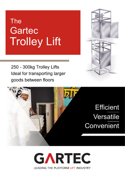 Gartec Trolley Lift (Small Goods Lift) Brochure