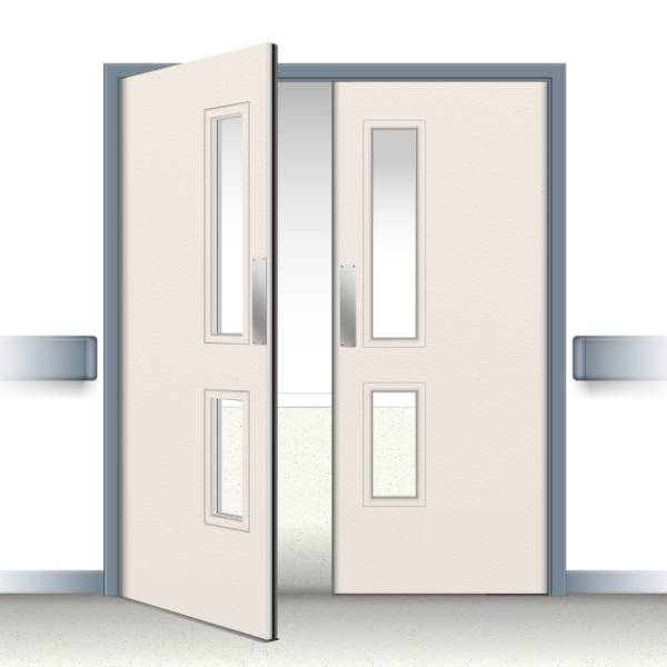 Postformed Double Swing Doorset - Vision Panel 3