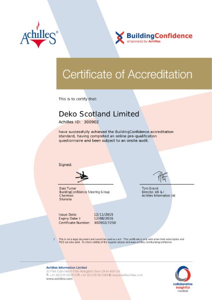 Building Confidence Certificate