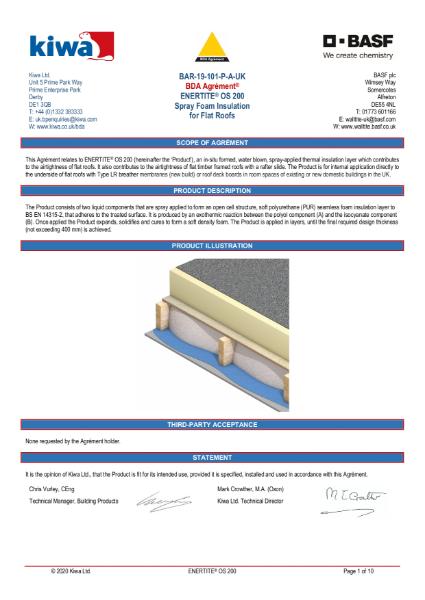 Enertite BDA Certification - Flat Roofs