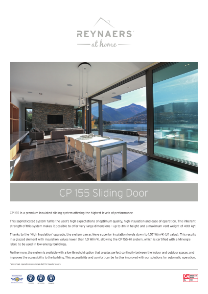 Aluminium Sliding Door for Domestic Market - CP 155
