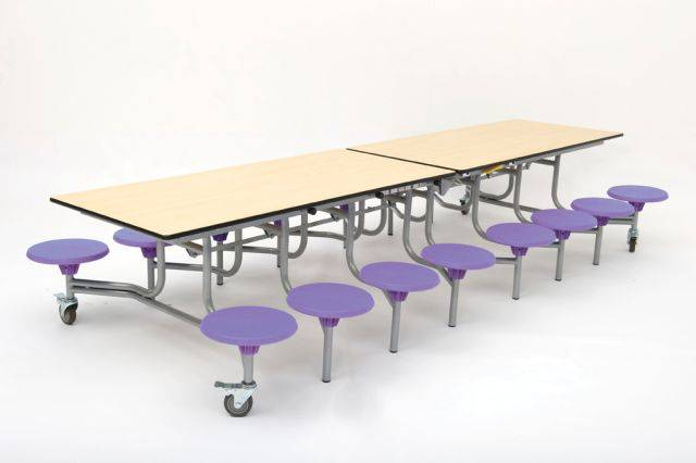 Rectangular Folding Table Seating Unit