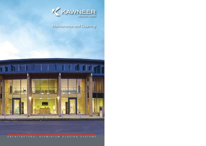 Kawneer Maintenance and Cleaning Brochure