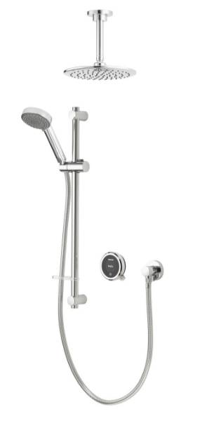 Quartz Touch Smart divert with concealed adjustable & fixed ceiling head - HP