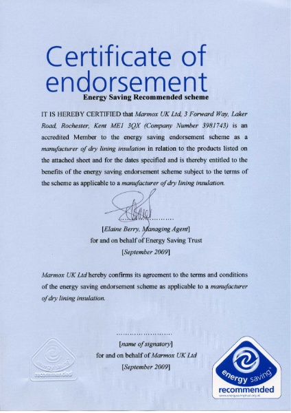 Energy Saving Trust Certification