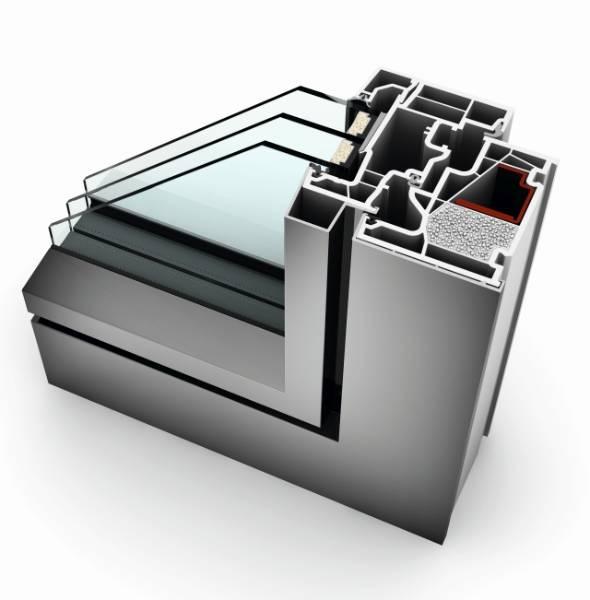 KF 410 PVC-U/ Aluminium Window