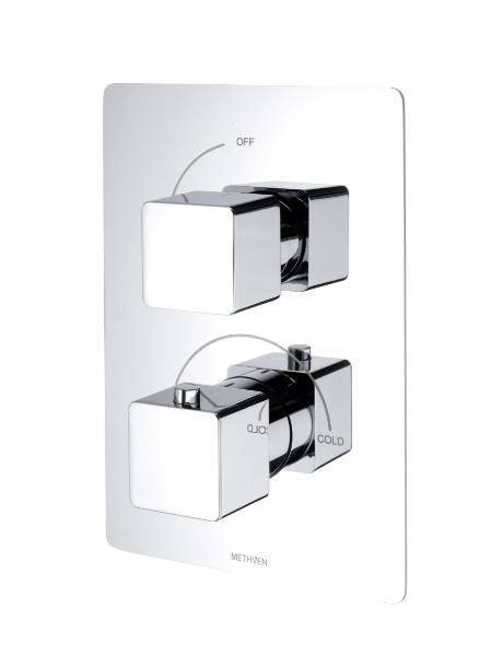 Kiri Concealed Mixer Valve Single Outlet - Brass Plate