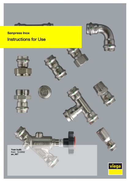Viega Sanpress Inox User Manual