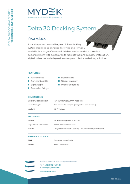 MyDek Delta 30 Specification