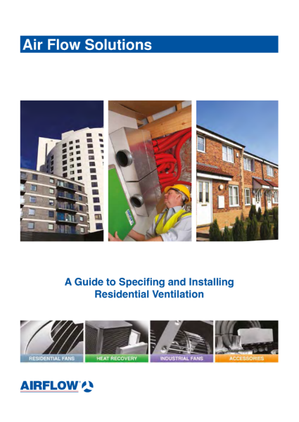 A Guide to Specifing and Installing Residential Ventilation