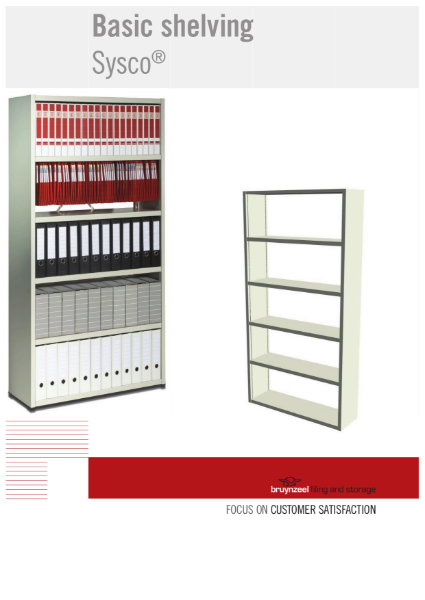 Bruynzeel Static Shelving: Sysco® - ideal for offices and static storage