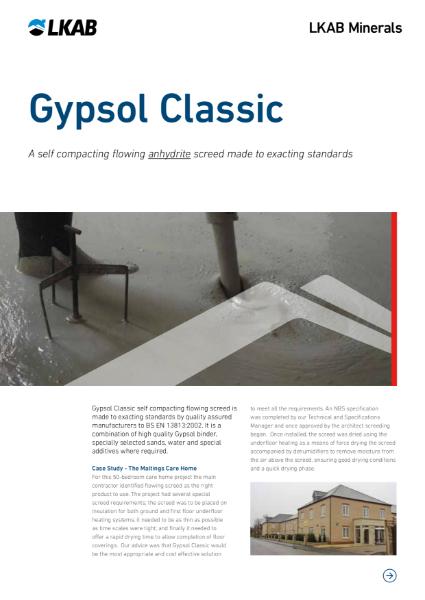 GYPSOL Classic Flowing Screed