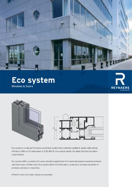 Aluminium Window and Door System - Eco System