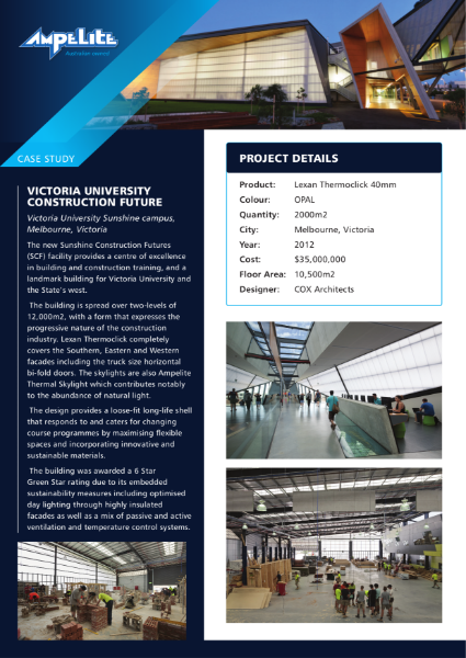 Case Study - Victoria University Construction Future