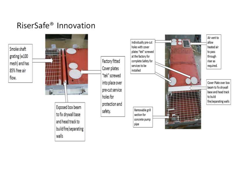 Combined RiserSafe & Smoke shaft