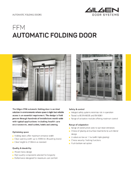 Gilgen FFM Automatic Folding Door