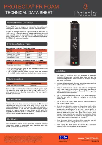 FR Foam - Technical Data Sheet