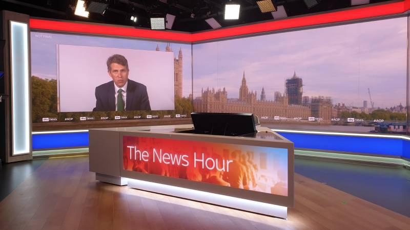 Sky News Studios - F. Ball provides Sky with good news