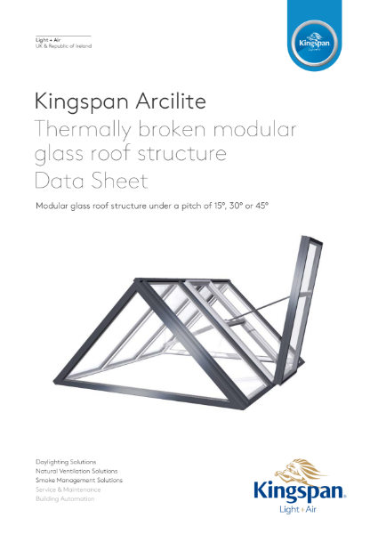 Kingspan Arcilite Glass Roof Structure