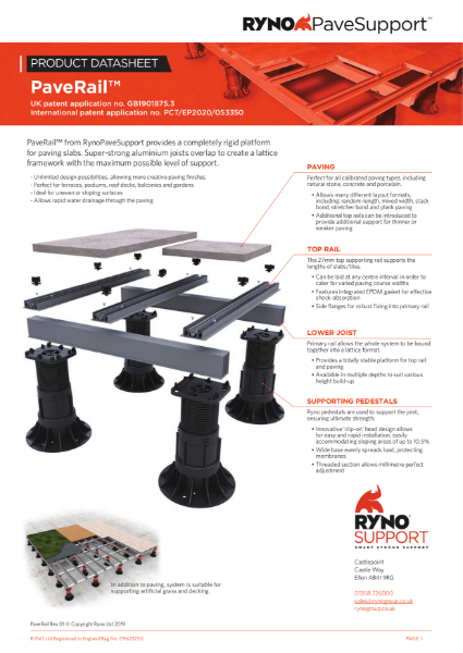 Datasheet - PaveRail Paving Support System