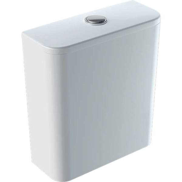 Smyle Square exposed cistern, close-coupled, dual flush, bottom water supply connection