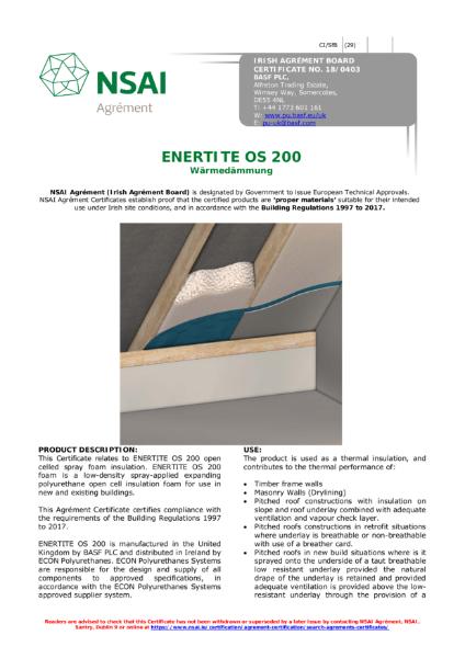 NSAI Certificate - Enerite