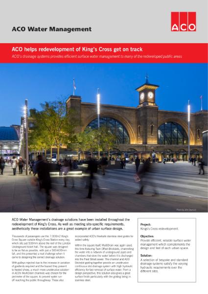 ACO helps redevelopment of Kings Cross get on track
