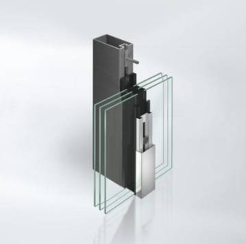 Highly thermally insulated steel stick curtain walling façade system - VISS 50