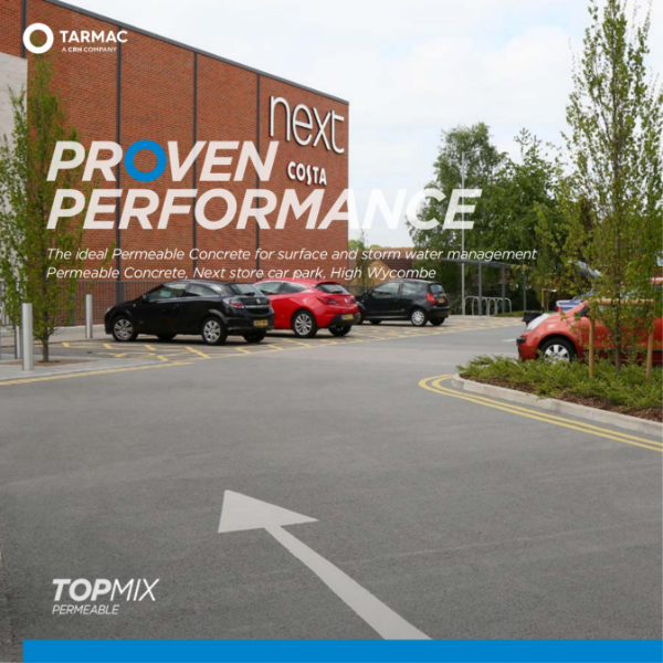 Permeable concrete for sustainable drainage (SuDS) - Topmix Permeable case study