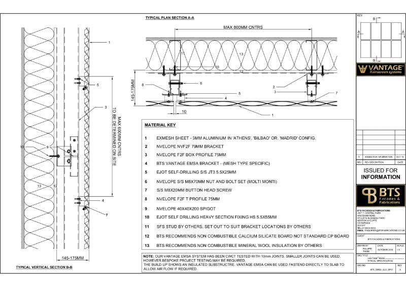 Vantage EMSA Specification Drawing