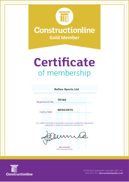 Constructionline GOLD certification