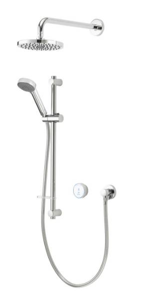 Quartz Blue™ Smart Divert Concealed Adjustable And Wall Fixed Heads - GP