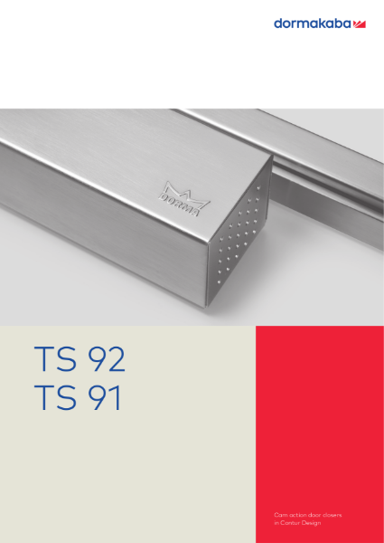 DORMA TS 92 and TS 91 Cam Action Door Closers