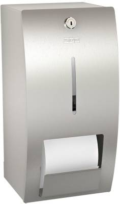 Double toilet roll holder without spindle system