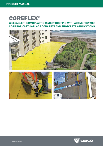 COREFLEX® - THERMOPLASTIC WATERPROOFING WITH AN ACTIVE LAYER