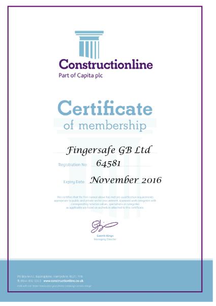 Constructiononline Certificate