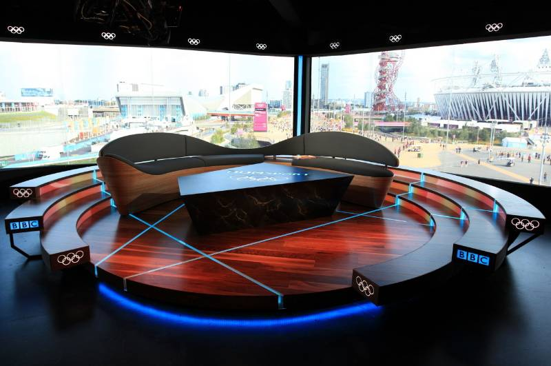 Walnut in the 2012 BBC Olympics Studio
