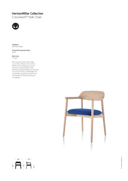 Crosshatch Side chair - Product Sheet