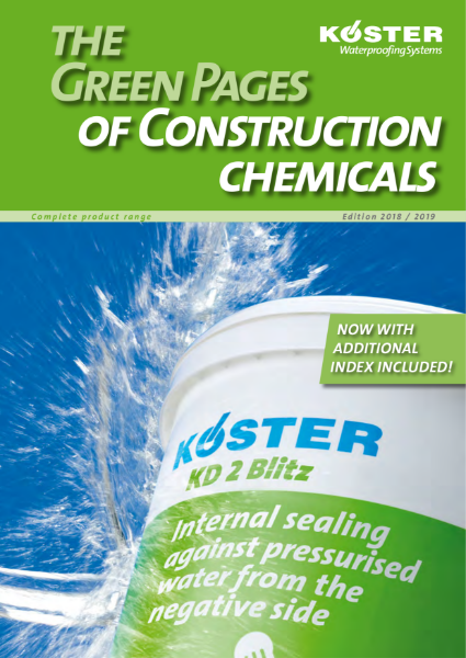 Koster Waterproofing Systems: The Green Pages of Waterproofing and Construction Chemicals