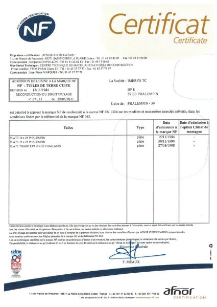 NF EN 1304:2004