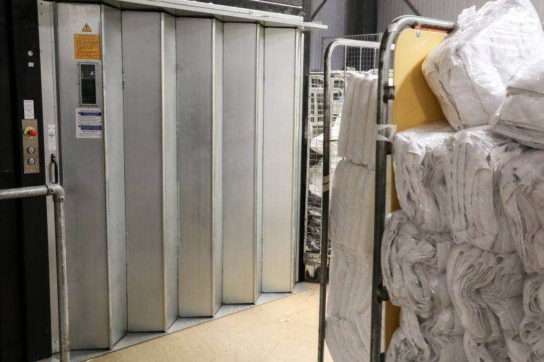 3 Stannah goods lifts support growing CLEAN Yeovil laundry