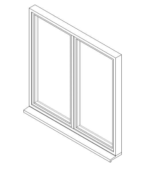 Double Window System with Side Hung Opening Lights