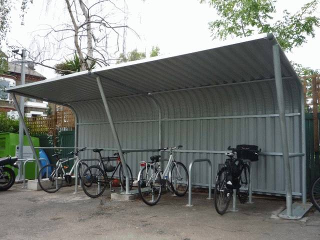 Cantilever Cycle Shelter