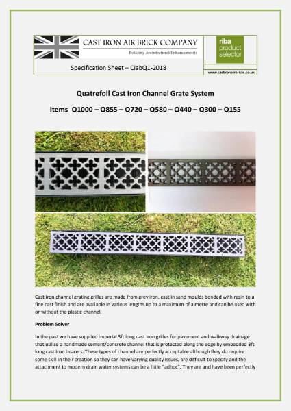 Cast Iron Channel Drainage
