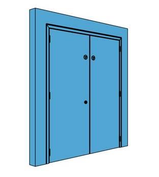 Double Metal Plant Room Door