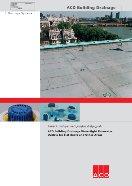 ACO Building Drainage - Rainwater Outlets Brochure