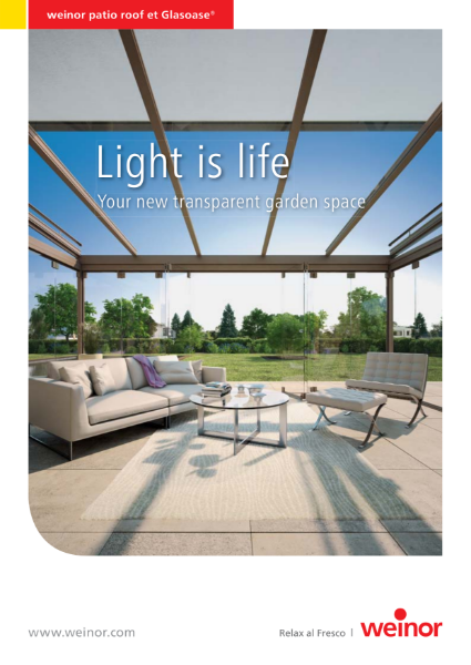 Weinor Light is Life Glass Rooms & Verandas