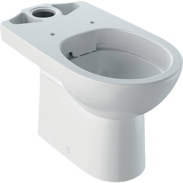 Selnova floor-standing WC for close-coupled exposed cistern, washdown, horizontal outlet, semi-shrouded, Rimfree