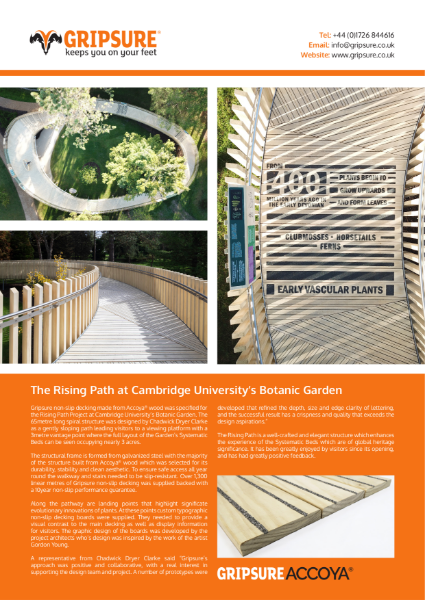 Non-slip decking case study: Accoya boardwalk